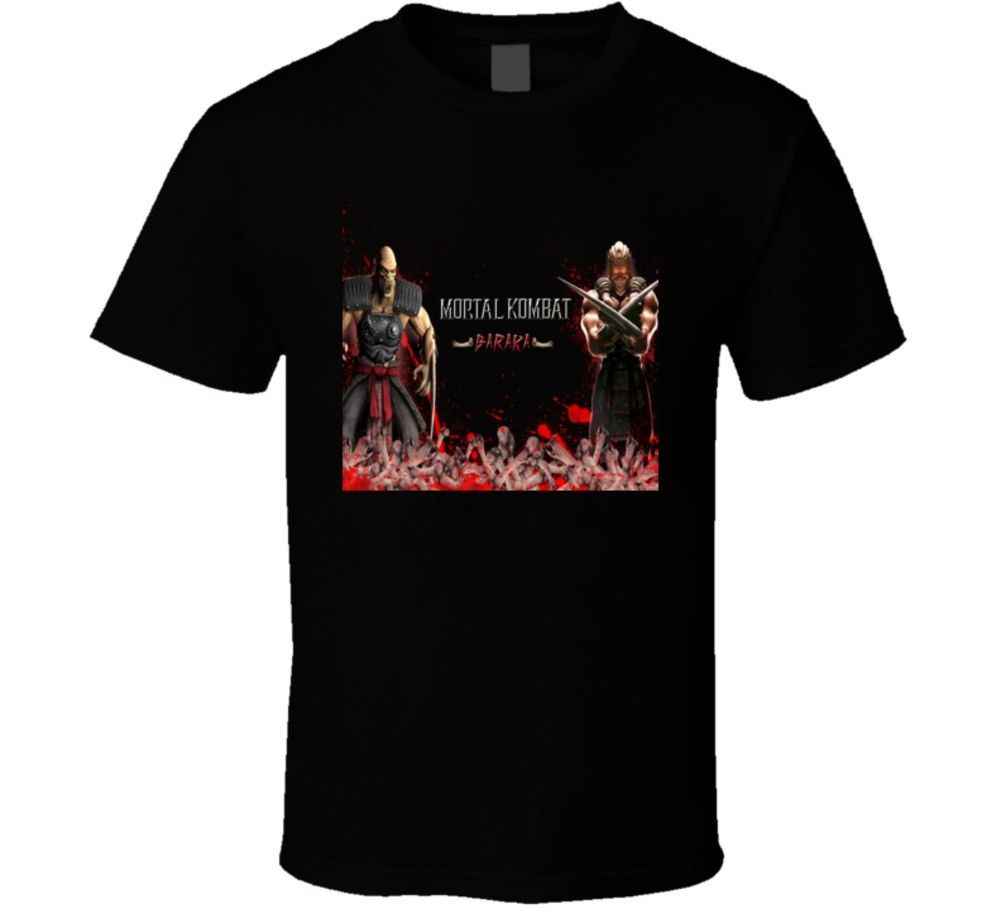 Baraka Mortal Kombat 9 Video Game T Shirt Printed Men T-Shirt Short Sleeve Funny Tee Shirts 100% Cotton Print Mens Summer O-Neck