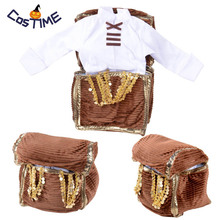 Treasure Chest Costume White Shirt Pirate in Jewelry Box Funny Fancy Dress Medieval Available Kids/Adult Size