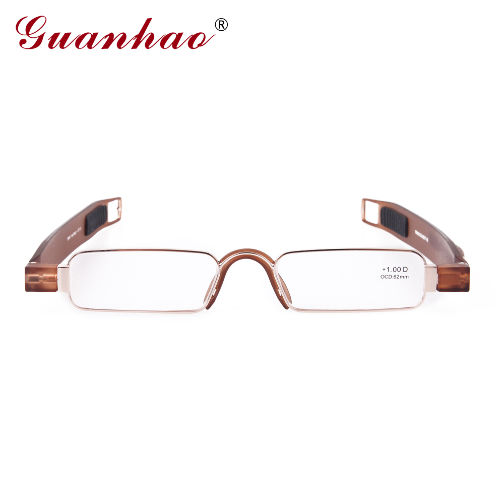Guanhao Brand Retro Portable Reading Glasses Rotating TR90 Resin - Apparel Accessories - Photo 2