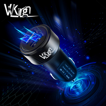 VVKing 3.0A Max Dual USB Intelligent Output Car Charger Universal Phone USB Car-Charger for HuaWei Xiaomi iPhone Samsung iPad LG стоимость