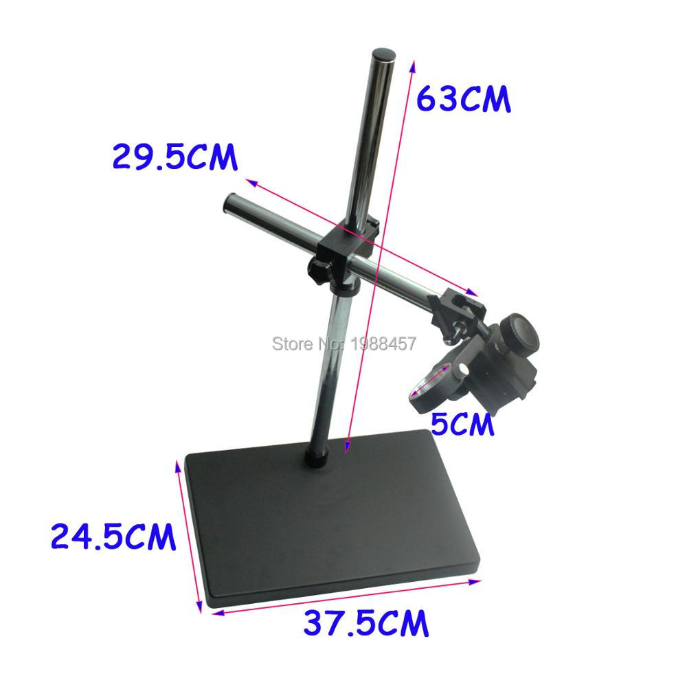Big Size Large Dual-arm Heavy Duty Boom Stereo Metal Table Stand 50mm Ring Holder For Lab Microscope Digital Industry Camera stereo zoom microscope focus arm a1 76mm ring size holder for lab industry tinocular binocular microscope camera