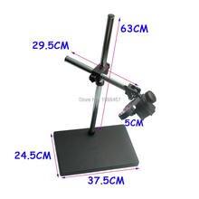 Tamaño grande Grande de Doble brazo Boom Heavy Duty Soporte De Mesa de Metal Estéreo de 50mm Soporte Del Anillo Para Microscopio De Laboratorio Cámara Digital de La Industria