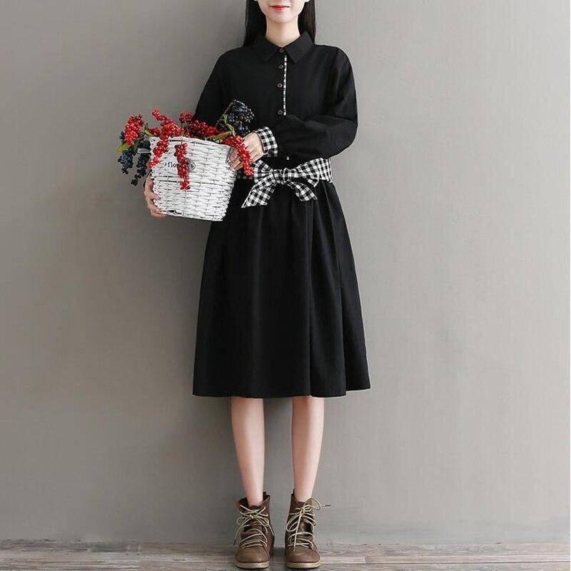 Leinenkleid schwarz