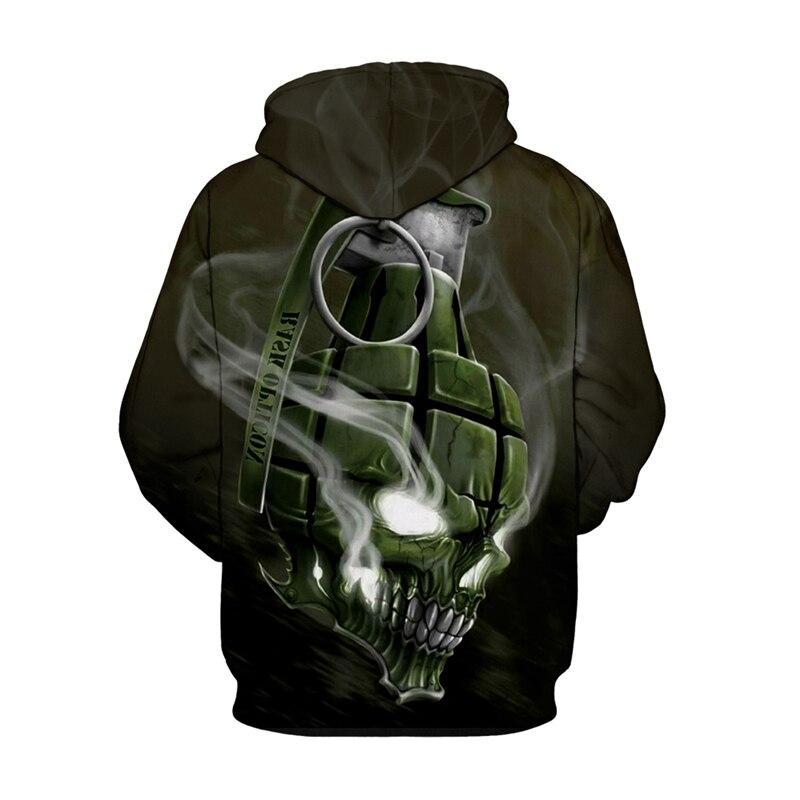 Fantasy Skull 3D Printed Hoodie  1