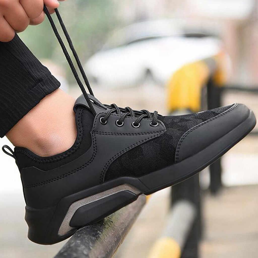 CHAMSGEND Nieuwe mannen casual en comfortabele ademende schoenen loopschoenen sportschoenen studenten lichtgewicht wilde loopschoenen