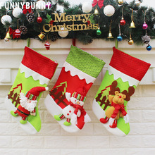 FUNNYBUNNY Christmas Stockings Candy Bag Home Decoration Xmas Tree Hanging Ornament Present Childrens Favorite Festival