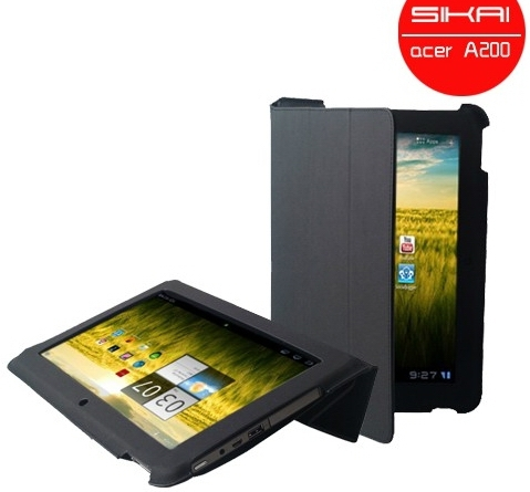 Supper MicroFiber case For Acer Iconia Tab A200 Stand Leather Cover