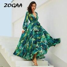 Зеленое женское летнее пляжное платье туника длинное с длинным