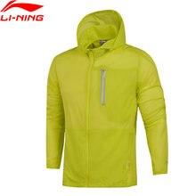 Li-Нин мужчины кроссовки пальто в доказательство Водонепроницаемый смарт-Lite в 3Д Сторона Подкладка Спортивная ветровка AFDM113 WWF871