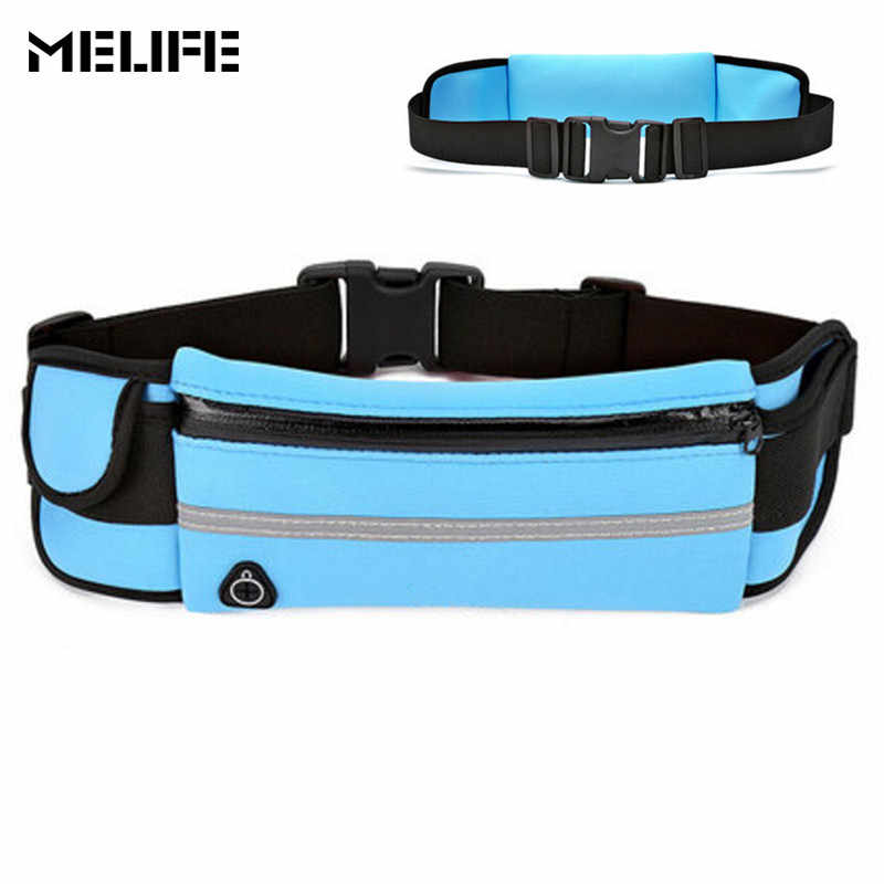 b4a364768 MELIFE Outdoor Running Waist Bags Waterproof For Mobile Phone Jogging Belt  Belly Bag Women Gym Fitness