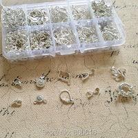 (Srebrny-i Haczyki Klamry) 670 Sztuk/zestaw Mix 10 Style Posrebrzane Biżuteria Haki Klamrami Ocena Biżuteria Akcesoria