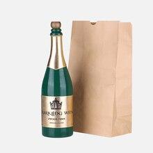 Free shipping Interesting and Novel Magic Trick Magic Vanishing Champagne Bottle Green