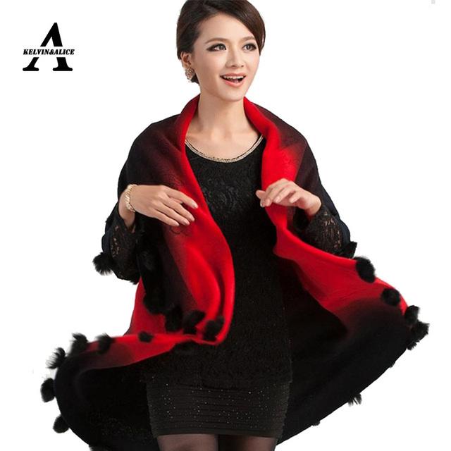 Mujeres Suéteres Cardigan mujeres Más El Tamaño 2015 Nueva Primavera y el Otoño de Mezcla de Lana Batwing Poncho Bufandas Wraps prendas de Vestir Exteriores 16 colores