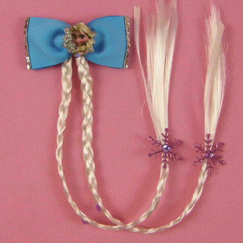 2pcs Princess Elsa Anna Hair Rope Hair Bands Hair Accessories Acrylic Elastic Hair Bands Girls Accesorios Para El Cabello Girls' Clothing Hair Accessories