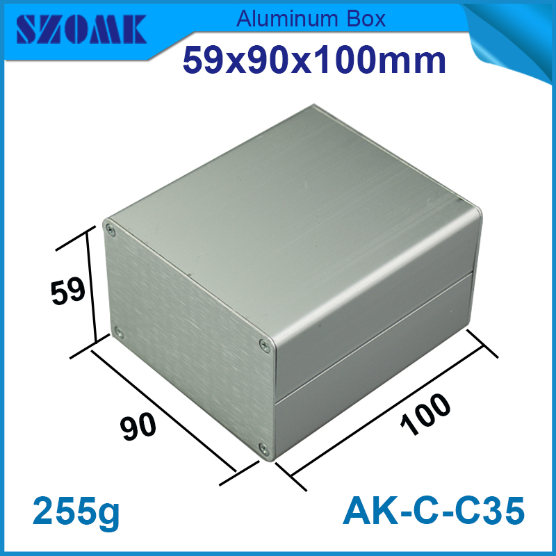 1 piece aluminum project case in silver color high quality custom CNC aluminum junction box for diy electronics used to GPS цена