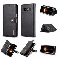 For Samsung Galaxy Note 8 Case PU Leather Retro Flip Cover 2 In 1 Magnetic Detachable