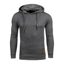 Drop Shipping Hoodies Men Long Sleeve Solid Color Hooded Sweatshirt Male Hoodie Casual Sportswear US Size Free Shipping