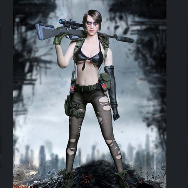 Mnotht 1/6 TOY MT2016-03 Metal Gear Sexy Sniper Quietly Jingjing Female Clothes Model for 12in Soldier Action Figure m3n