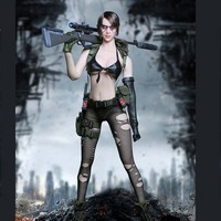 Mnotht 1/6 TOY MT2016 03 Metal Gear Sexy Sniper Quietly Jingjing Female Clothes Model for 12in Soldier Action Figure m3n