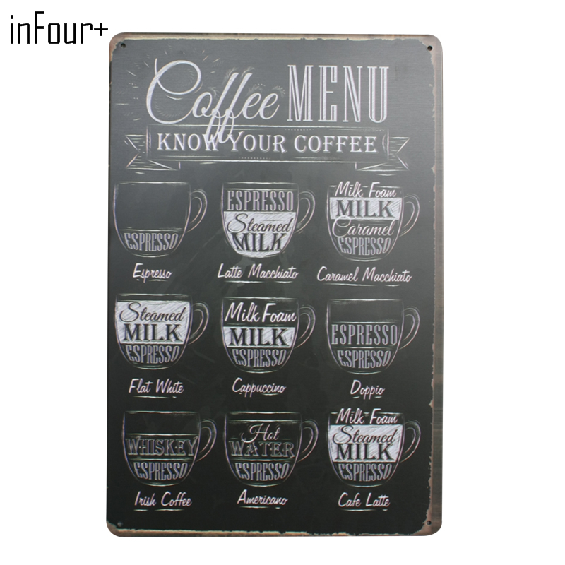 Aliexpresscom Buy New Drink Menu Chic Home Bar Vintage Metal