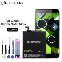 YILIZOMANA Phone Battery For Xiaomi BM46 Battery For Xiaomi Redmi Note 3 / Note 3 Pro 4000mAh Original Batteries Retail Package yilizomana bm45 original phone battery for xiaomi redmi note 2 high quality 3020mah replacement batteries retail package
