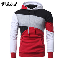 T Bird 2017 New Fashion Hoodies Brand Men Multi Color Stitching Sweatshirt Male Hoody Hip Hop