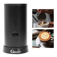自動ミルク泡立て器ステンレス鋼容器ソフト泡カプチーノ電気コーヒーミルクフォーマー機メーカー
