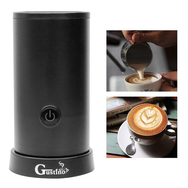 Batedor de Leite com Recipiente de Aço Inoxidável Elétrico automático para Fabricante de Máquina de Café Cappuccino Espuma Macia Quente/Frio PLUGUE DA UE milk frother cafeteira melkopschuimer café espumador de leche