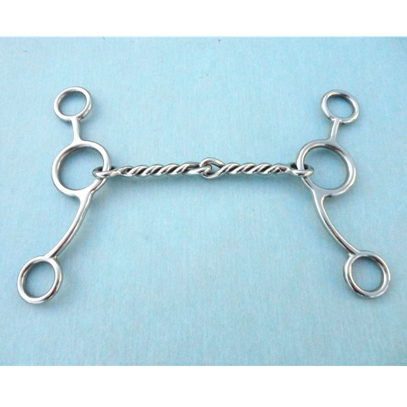 Gag Bit  Horse Equipment 11.5cm Twisted Wire Mouthpiece Horse Bit