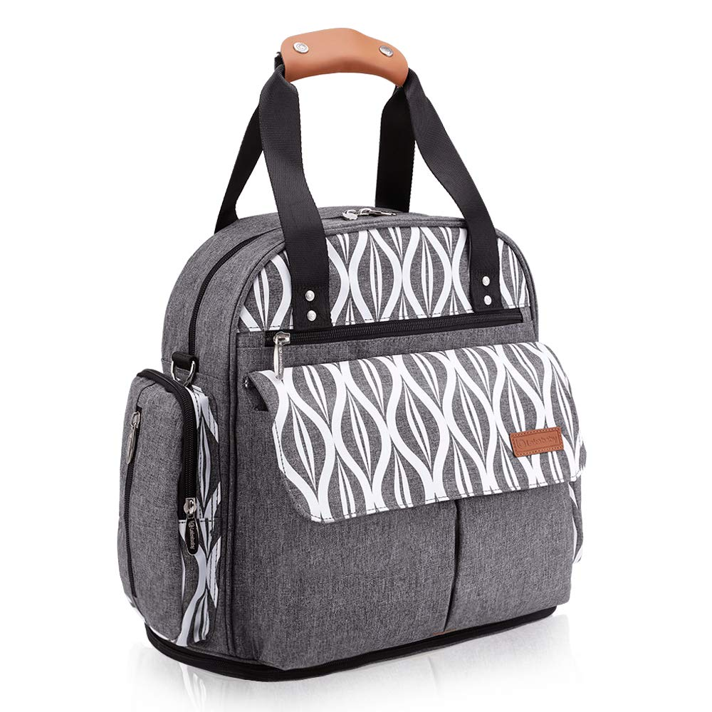 Lekebaby Diaper bag baby bag nappy bay maternity bag organizer shoulder bag travel tote Large capacity