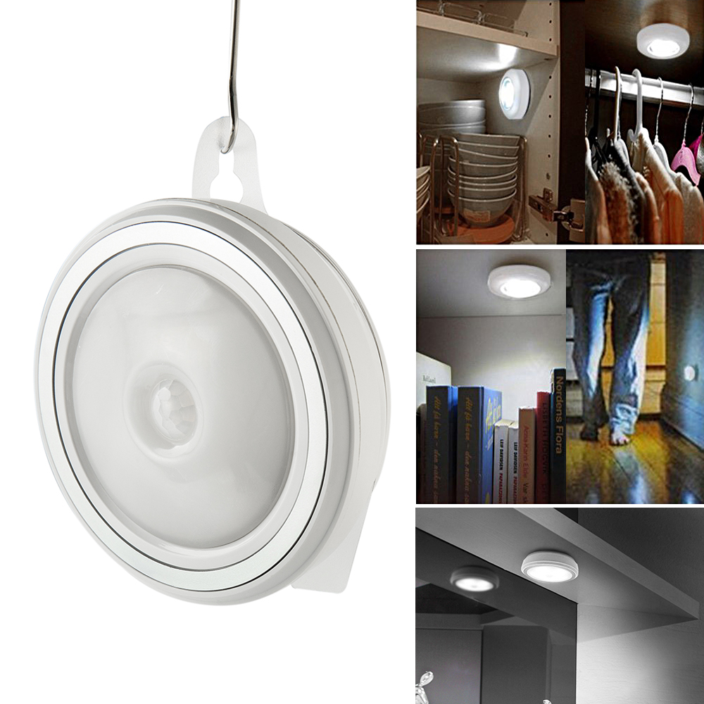 Wireless Battery Powered PIR Motion Sensor LED Night Light Lamp Wall Wardrobe Operated for Hallway