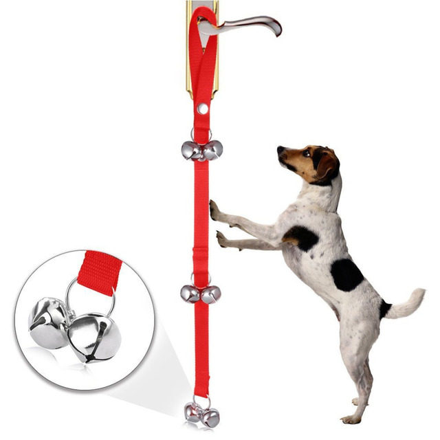 New Arrival Pet Dog Training Dog Doorbell Rope Housetraining and Communicate Alarm Door Bell for Dogs and Cats Adjustable