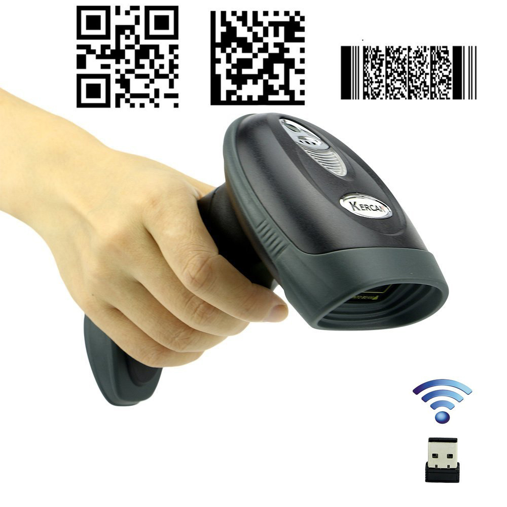 US $49 99  Kercan Wireless USB Automatic 2D QR PDF417 Data Matrix Barcode  Scanner CCD Bar Code Reader (2 4G Wireless/Bluetooth+ USB wired)-in  Scanners