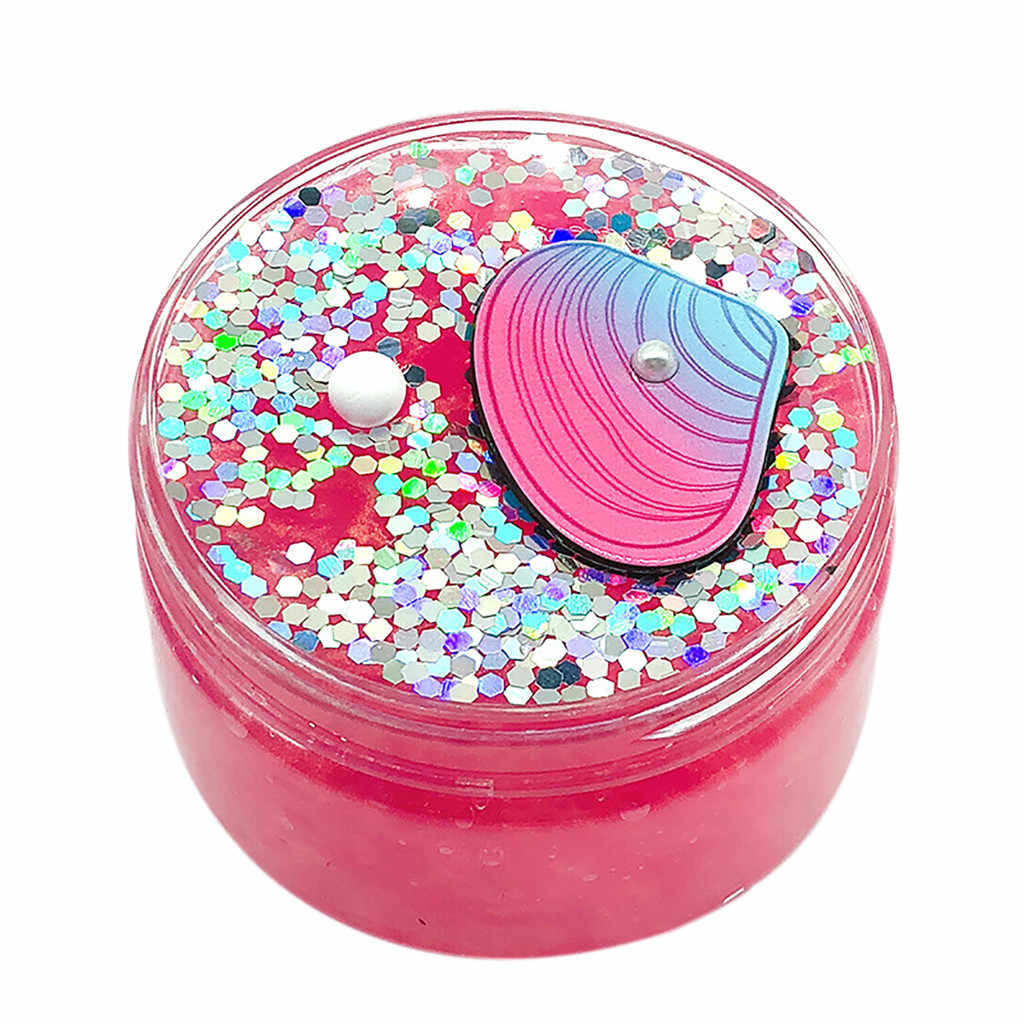 Kids Toy For Boy Girl Best Gift Beautiful Mermaid Mud Mixing Cloud Slime Putty Scented Stress Kids Clay Toy