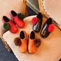 New Children Girls Boots For Kids Girls Shoes Breathable  Flat Shoes Soild Leather  Casual Leisure Girls Shoes For Child Mid