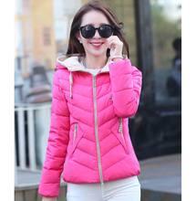 2015 женщин зимы вниз пальто с капюшоном куртка Большой размер толстый тонкий хлопок теплая куртка BL1134