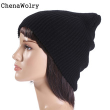 ChenaWolry 1PC Men Women Baggy Warm Crochet Winter Wool Knit Beanie Skull Slouchy Caps Hat Hot Sales Attractive Nov 21
