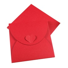 10PCS/lot Vintage Red Romantic Heart Kraft Paper CD Optical Disc Bag/DIY Multifunction Card bag/envelopes /130*130mm