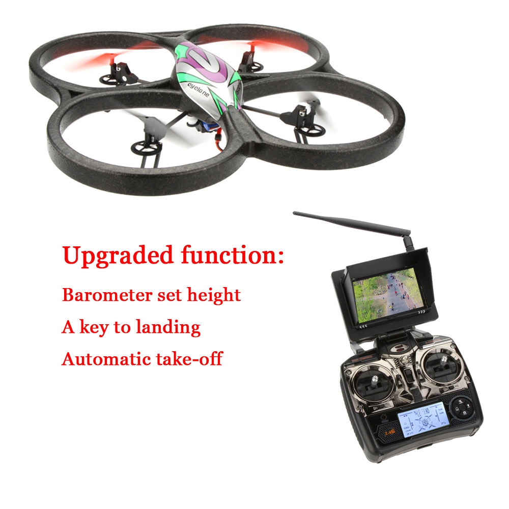 professional FPV RC Drone V666N 4CH 6 Axis 5.8G FPV Barometer Set High remote control Quadcopter with 2.0MP HD Camera RTF