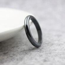 Moda jóias grau aaa qualidade 4mm largura cambaleada superfície hematite anéis (1 peça) hr1008