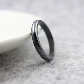 Модные ювелирные изделия класс AAA Качество ширина 4 мм гематитовые кольца (1 шт.) HR1008