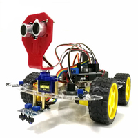 Intelligent Robot Car WiFi Control Tracking Ultrasonic Obstacle Avoidance Chassis Ultrasonic Module Battery Box For Arduino Kit