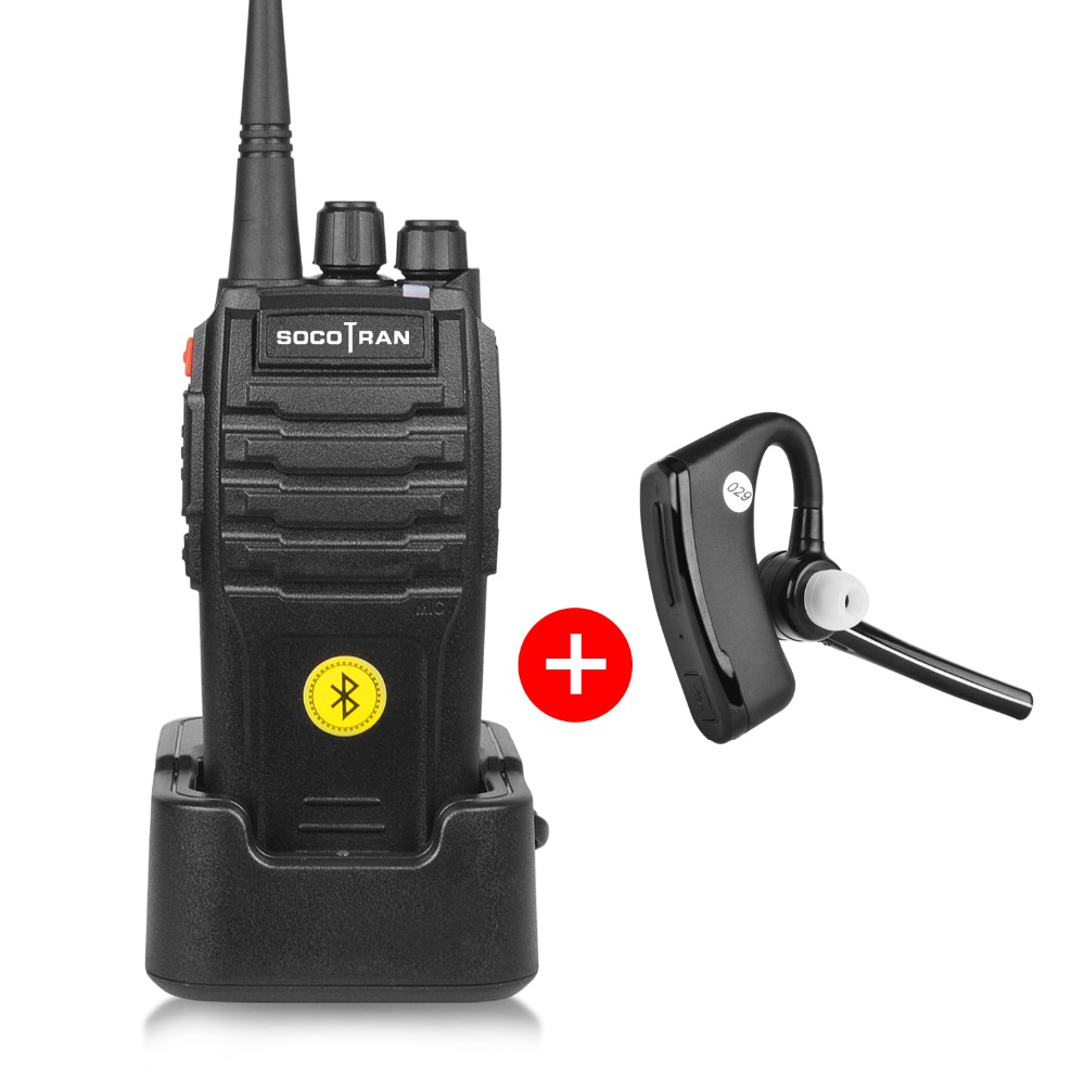 Bluetooth Walkie Talkie 5W UHF 400 480MHz Built in Bluetooth module Portable Two way radio with Wireless Bluetooth headset 16CH-in Walkie Talkie from Cellphones & Telecommunications