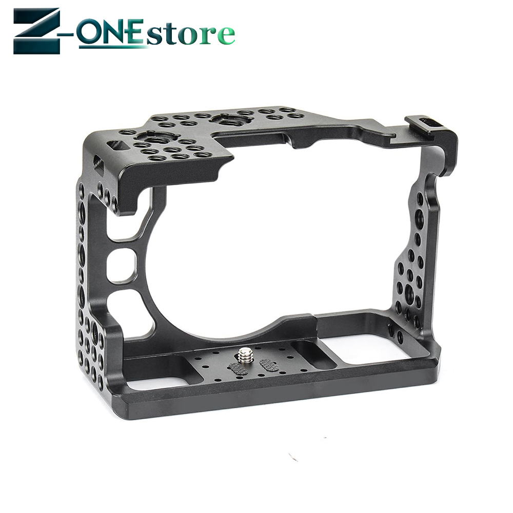 Aluminum Alloy Camera Cage Video Stabilizer 1 4 Screw with Cold Shoe Mount for Sony A7II