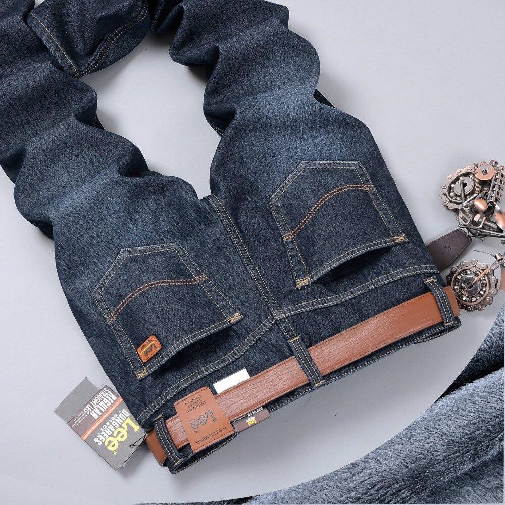 New 2016 autumn men famous brand jeans casual slim Plus velvet  long trousers straight  business man jeans for men denim pants new men s autumn elastic black brand jeans casual fashion straight cassical denim pants men slim male jeans meth pant for man