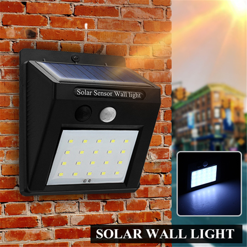 Mising LED Solar Lamp  Motion Sensor Wireless Solar Power Light Garden Wall Yard Deck Security Outdoor Waterproof IP 65