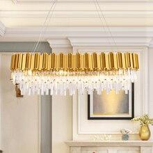 Chandelier Lighting Crystal LED Chandeliers Light Fixture Golden Suspension Hanging Lamp Lustre luminaria for Dining Living Room цены
