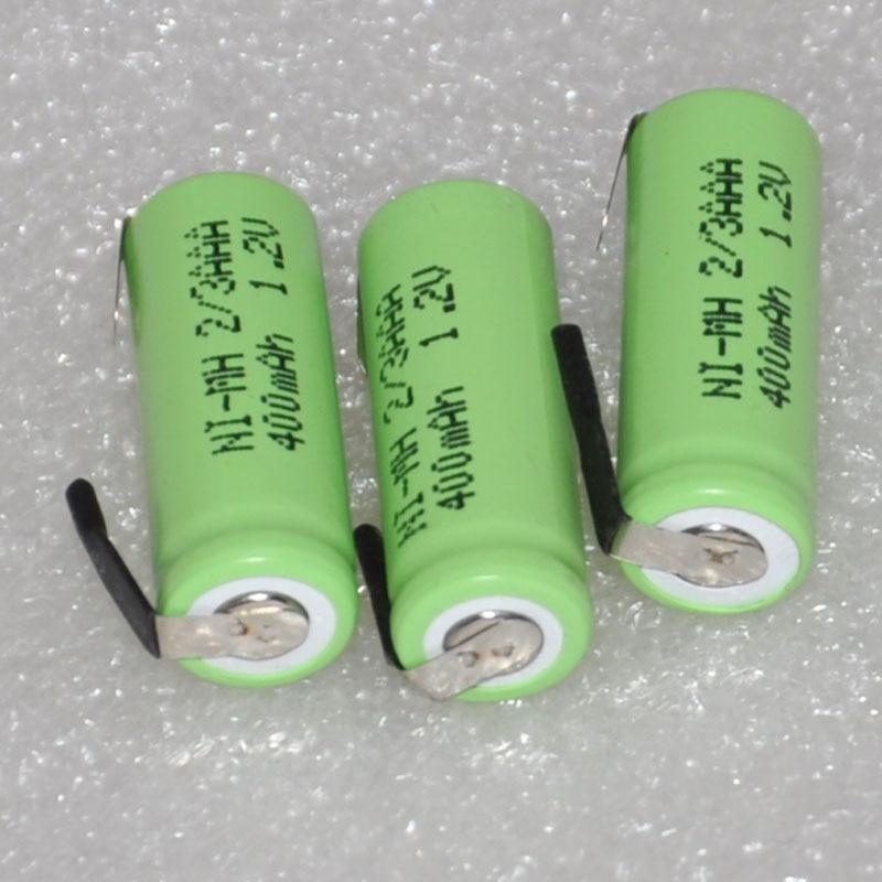 Аккумуляторная батарея 3, 4, 6 шт., 1,2 В, 2/3 AAA, 400 мА/ч, 2/3 AAA, Ni-MH, никель-металлогидридная ячейка с контактами для электробритвы, бритвы, беспроводного телефона