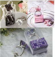10PCS LOT KATE ASPEN Wedding Party Gift Favor Decoration Of Crystal Diamond Ring Keychains Key Chain