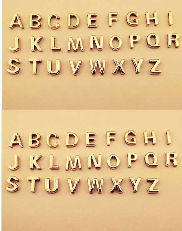 Ahmed ใหม่เงินทองสี A-Z 26 ตัวอักษรจี้สร้อยคอสำหรับผู้หญิง DIY ชื่อ Choker สร้อยคอเครื่องประดับของขวัญ